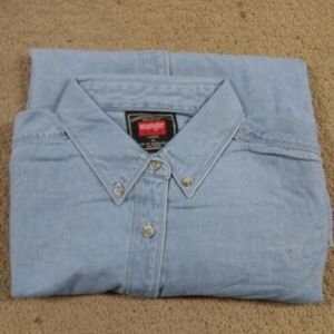 Wrangler Hero Ladies Denim Short Sleeve Shirt XL